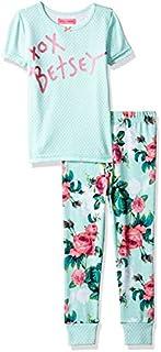Betsey Johnson Girls' Big 2 Piece Cotton Pajama Set