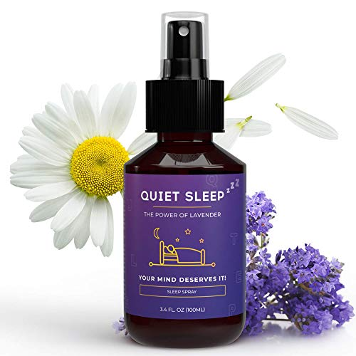 Einschlafmittel von QUIET SLEEP I 100 ml Lavendel gute Nacht Spray I Lavendelöl zum gut Schlafen I Natürliche Alternative zu Pillen & Schlafmittel I Auch für Kinder geeignet