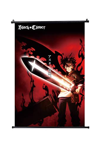 Black Clover-Japan Anime Fabric Wall Scroll Poster Size 30x45cm(12 x 18 in)