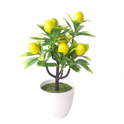 CBVG 1pc Künstliche Pflanzen Bonsai Kleine Baum Topfpflanzen Gefälschte Blumen Topf künstliche Pflanzen Für Hausgarten Dekor, Gelbe Kirsche Tomate