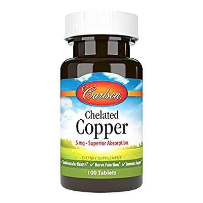 Carlson Labs - Chelated Copper 5 mg 100 tabs
