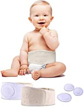 Baby Hernia Belt Belly Button Band Umbilical Truss Newborn Belly Band Button Wrap Baby Adjustable Navel Band Abdominal Binder for Children Medium
