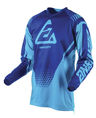 Answer Syncron Drift Youth Herren Motocross Jersey - Astana/Reflex Blau, XS