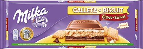 Milka Schokoladen-Tafel Choco-Swing, 300g (Milka-Schokolade mit Keks)