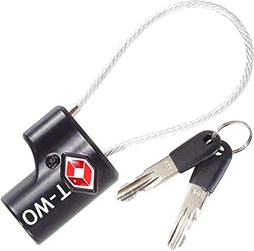 OW-Travel Lucchetto de Cable con Chiavi TSA per Valigie e Bagagli da Viaggio (50a) Blocco Da Viaggio, Nero,1)