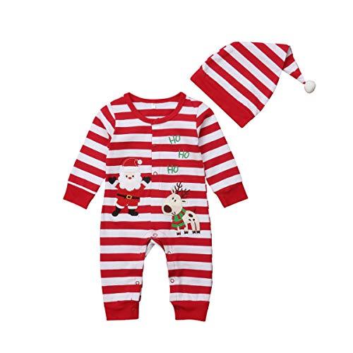 vpuquuz Neugeborenes Dickes Weihnachten Overall Gestrickten Pullover für Kleinkind Baby Junge Mädchen Hirsch Warme Winter Outfits Kleidung Strampler (z7, 0-6M)