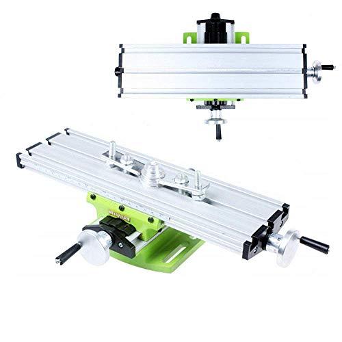 lqgpsx Fräsen Arbeitstisch Maschine - Mini Arbeitstisch Fräsen Kreuztisch Fräsmaschine Verbundbohrschiebetisch für Tischbohrer Adjustme X-Y