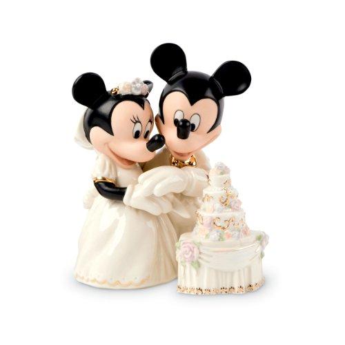 レノックス社製 白磁フィギュア 『ミニーズドリームウェディングケーキ』 ミッキーマウス&ミニーマウス ディズニー