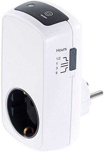 reVolt Steckdosentimer: Steckdose mit Countup- und Countdown-Timer, Kinderschutz, 3.680 Watt (Countdown Timer Schalter)