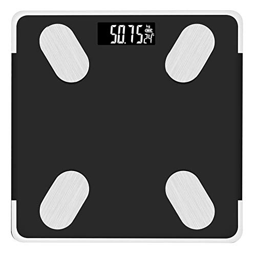 Read About Bluetooth Body Fat Scale Smart Scale Digital Bathroom Wireless Weight Scale, G-shaped sen...
