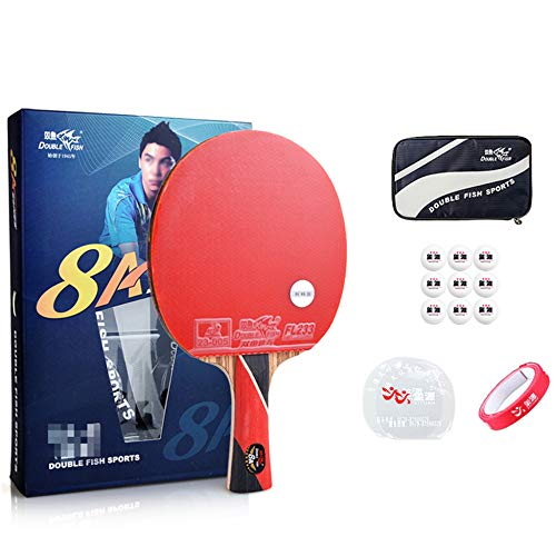 Amazing Deal SSHHI 8 Stars Table Tennis Racket Set,Comfortable Non-Slip Handle,Offensive Ping Pong P...