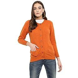 Monte Carlo Orange Pure Wool Cardigan