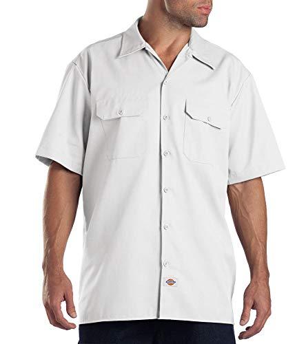 Dickies Herren Regular Fit Freizeit Hemd Shrt/S Work Shirt, Kurzarm, Weiß (White WH), Gr. XXX-Large (Herstellergröße: 3XL)
