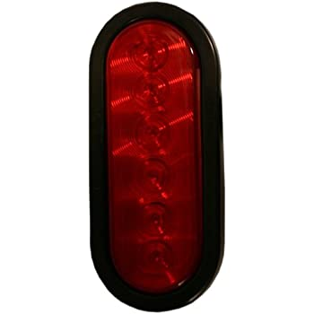 Clear Blazer C562CRTM LED 6-Inch Oval Stop//Tail//Turn//Park Red Light