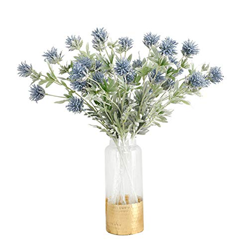 Skyseen 3PCS Artificial Flowers Thistle Spray Eryngo Single Spray
