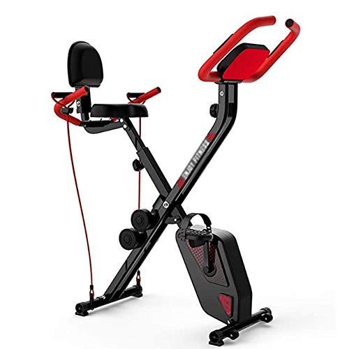 Phil Beauty Ejercicio Bicicleta Estática Plegable Magnético Vertical Reclinada Carga 150Kg Se Utiliza para Ejercitar Piernas Ejercicio Aeróbico