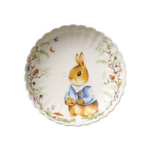Villeroy & Boch Spring Fantasy-Cuenco de Porcelana (24 x 4,5 cm), Multicolor, Calidad, carbón, 24x4,5