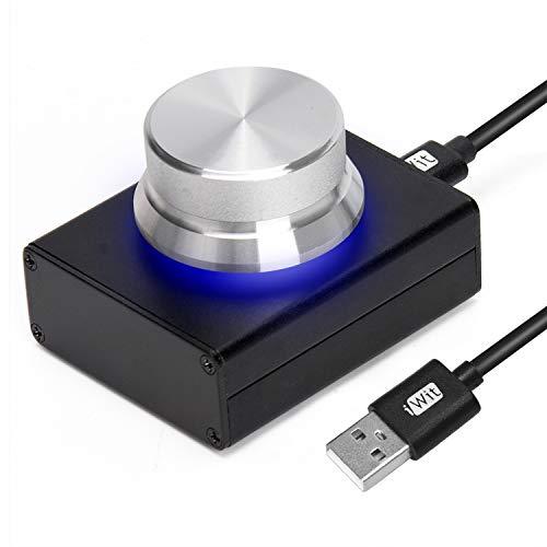 Mini botón de control de volumen USB Ajustador de audio con cable...