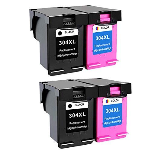 Cartucho de tinta compatible de alto rendimiento para Hp304xl, para Deskjet 2600 2620 2630 3720 3721 impresora 2* sets