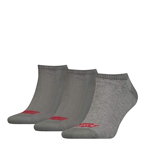 Levi's Levis 168sf Low Cut 3p Calcetines, Gris (Middle Grey Melange 758), 39/42 (Talla del fabricante: 039) para Hombre