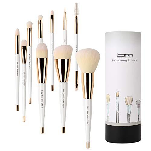 Brush Master Makeup Brushes Set for Kabuki Foundation, Eyeshadow, Blush, Blending, Lip, Full Face...