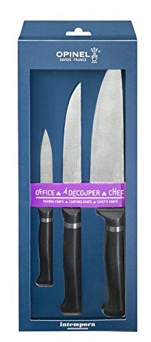 Opinel Intempora Lot de 3 Couteaux INOX Multicolore 39,8 x 15,4 x 5 cm