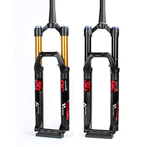BIKERISK MTB bicycle fork 27.5 inch 29 inch mountain bike fork 110 * 15mm cylinder shaft air pressure BOOST FOX 36,Gold,29