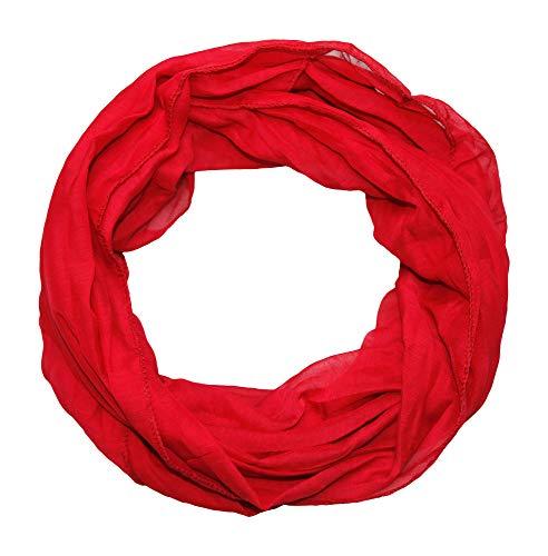 beybey Damen Loop Schal herrlich weich für die anspruchsvolle Dame (rot)