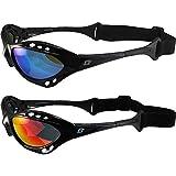 2 Pairs of Birdz Seahawk Polarized Padded Sunglasses Black Frames Blue + Red Reflectech Lenses