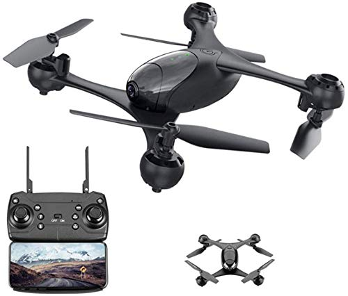 Drones, longue distance contrôle 360 °, maintien l'altitude, gyro 4 axes RC, mosans tête GPS vidéo en direct HD à longue portée, réglage l'objectif à 110 ° à grand angle et à 30 ° Geste Photo