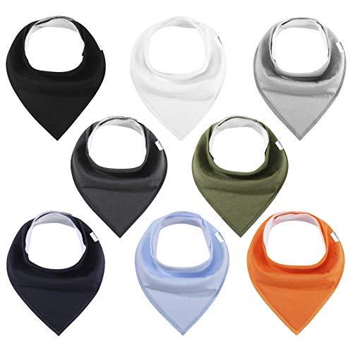 Dreieckstücher Baby Lätzchen 8er Halstücher Saugfähig Weich Spucktuch Baumwolle mit Druckknöpfen für Junge und Mädchen YOOFOSS