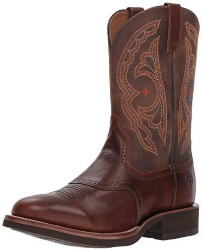 ARIAT Men's Western Boot Quantum Crepe, Vintage Caramel/Tack Room Chocolate, 9.5 2E US