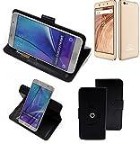 K-S-Trade® Handy Hülle Für Blaupunkt SL02 Flipcase Smartphone Cover Handy Schutz Bookstyle Schwarz (1x)