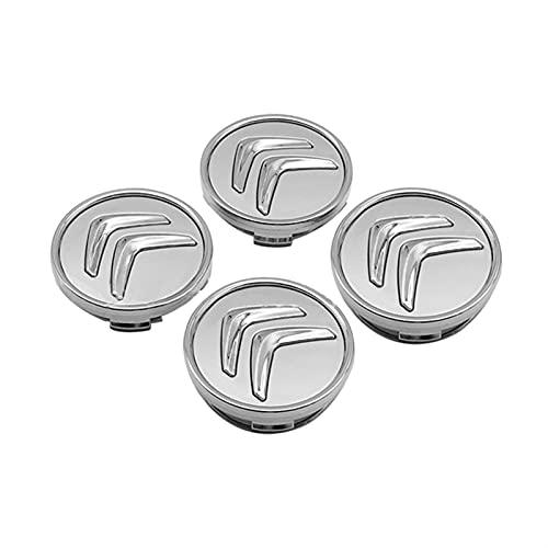RHGEIUCY Caps de cubrientes de neumáticos para Citroen Saxo Elysee C5 C2 Cactus DS3 DS4 C3 C4 C1 C1 Picasso Xsara Berling DS6 Estilo de la Cubierta del Centro de la Rueda (Color : A)
