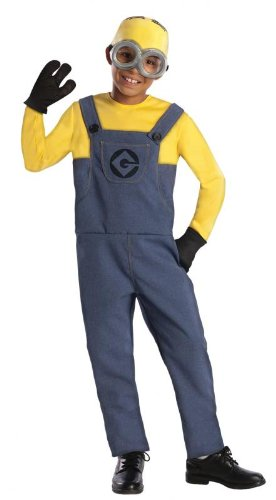Minions Dave Kinderkostüm Lizenzware blau gelb schwarz S