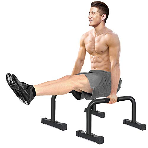 IDEER LIFE Push Up Stand XL Parallette Bars, Upper Body Push Up Bar with Extra Long Sweat-Resistant Handle Grip and Non-Slip Rubber Feet, Gym Parallettes Dip Bars for Handstand Muscle