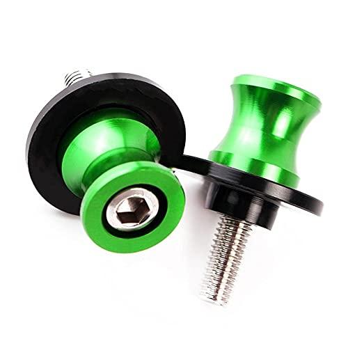 Accesorios 8MM CNC Aluminio basculante carretes Deslizante Soporte Tornillos para K&AWASAKI para ZX10R 13-18 2019 para ZX-10R para ZX 10R 10 R Moto Protección contra caídas (Color : For 8MM Green)