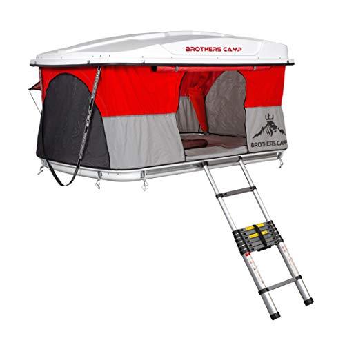 BrothersCamp® Easy360 - Tienda de campaña para 2 personas, 130 x 210 cm, carcasa rígida, protección contra mosquitos, para el coche, impermeable, para exteriores, camping, vacaciones, pícnic