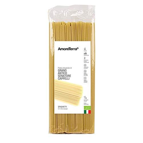 AmoreTerra, (20 Pz.) Spaghetti BIO - Grani Antichi - Senatore Cappelli - 500g Grani antichi, artigianale biologica, trafila al bronzo, essiccata bassa temperatura