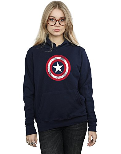 Marvel Mujer Captain America Distressed...