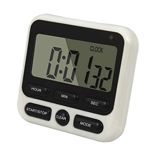 QUMOX Digital Küchenwecker Kurzzeitmesser Küchen Timer Ständer Magnet Eieruhr HX106 Schwarz
