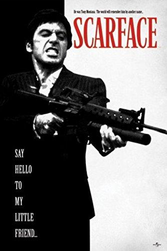 1art1 Scarface - Dire Ciao al Mio Piccolo Amico Poster Stampa (91 x 61cm)