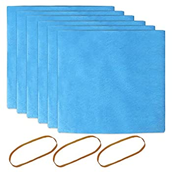 KEEPOW Reusable Dry Filters Bag Compatible with Stanley 1-6 Gallon Wet/Dry Vacuums Part# 25-1217  6 Pack