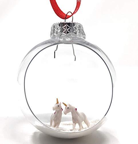 Best Friends Unicorn Christmas Ornament Winter Diorama