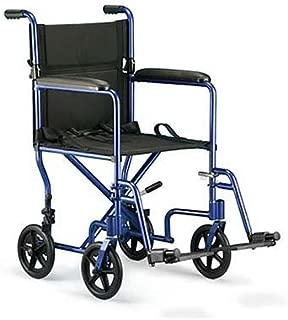 Invacare Aluminum Transport Chair, Blue