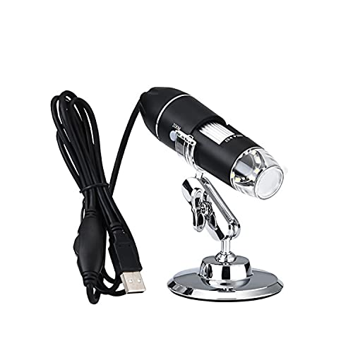 KKSQ Professional Digital Microscope 1600X with 8LED Light USB Digital Microscope Endoscope Camera Magnifier Zoom with Adjustable Stand