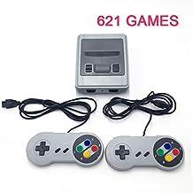 Jhana Mini console de jeu vidéo rétro classique avec 621 jeux, lecteur de jeu portable, TV 4K, AV / HDMI, 8 bits (sortie H...