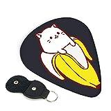 ファニー バナナと猫ちゃん ギターピック 3種類の厚さ 6枚セット 初心者用 それぞれ厚さ ピック ウクレレ 音楽ギフト ケース付き