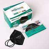 Maskgreen - Mascarilla FFP2 Negra - Caja 20 Unidades - Mascarillas FFP2 Homologadas CE - Fabricadas en España - Normativa UNE-EN 149:2001 + A1:2009 | +KGREEN