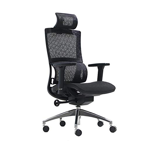 Ergonomics with lumbar support Gaming Chair Racing Style Office Ergonomic Computer PC with Adjustable Height, Full Recline and Headrest/Lumbar Support For home and work (Color : Black)
